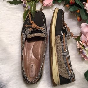 Sperry Top Sider Leather Fabric Size 8.5 Women's